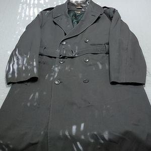 Vintage MIlitary Overcoat Sz 44R Defect Circa 1967